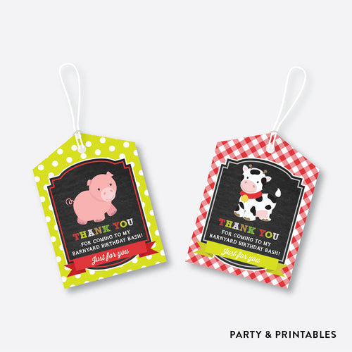 Farm Friends Chalkboard Favor Tags / Non-Personalized / Instant Download (CKB.55)