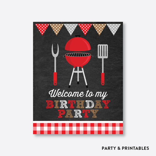 BBQ Chalkboard Welcome Sign / Non-Personalized / Instant Download (CKB.75)