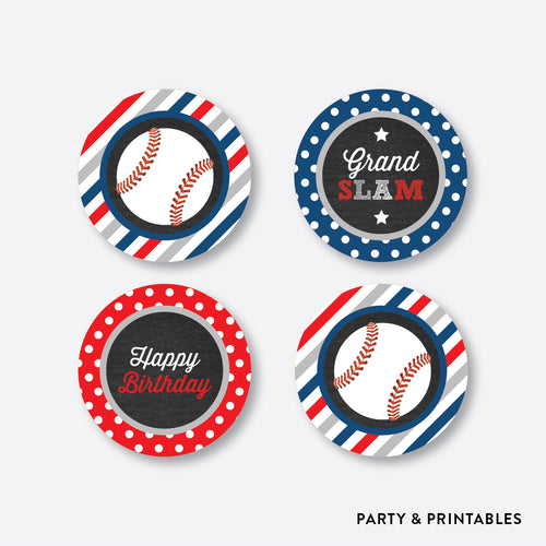 Baseball Chalkboard Cupcake Toppers / Non-Personalized / Instant Download (CKB.76)