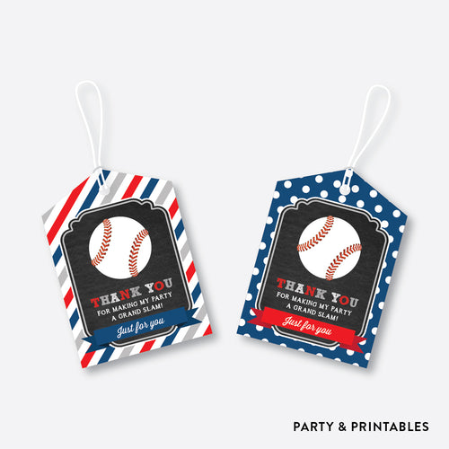 Baseball Chalkboard Favor Tags / Non-Personalized / Instant Download (CKB.76)