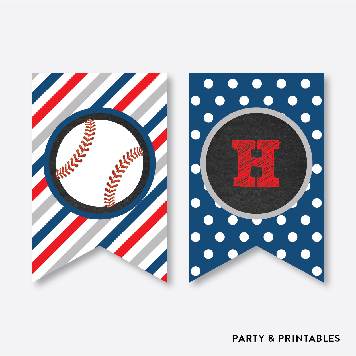Baseball Chalkboard Party Banner / Happy Birthday Banner / Non-Personalized / Instant Download (CKB.76), party printables - Party and Printables