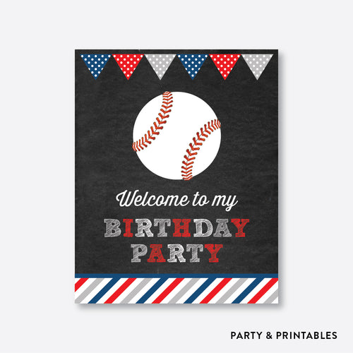 Baseball Chalkboard Welcome Sign / Non-Personalized / Instant Download (CKB.76)