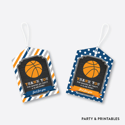 Basketball Chalkboard Favor Tags / Non-Personalized / Instant Download (CKB.77)