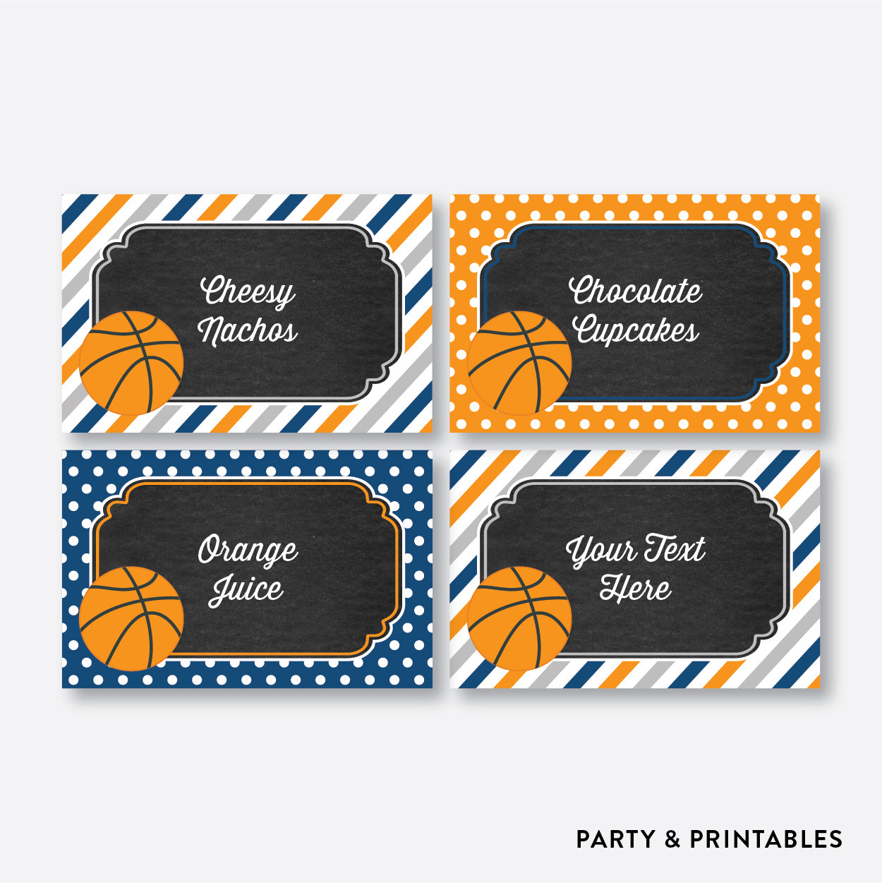 Basketball Chalkboard Food Labels / Editable / Instant Download (CKB.77), party printables - Party and Printables