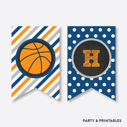 Basketball Chalkboard Party Banner / Happy Birthday Banner / Non-Personalized / Instant Download (CKB.77)