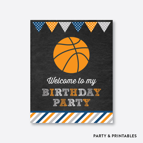Basketball Chalkboard Welcome Sign / Non-Personalized / Instant Download (CKB.77)