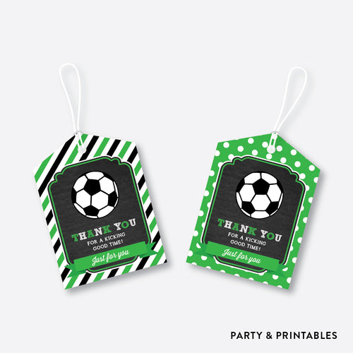 Soccer Chalkboard Favor Tags / Non-Personalized / Instant Download (CKB.78)