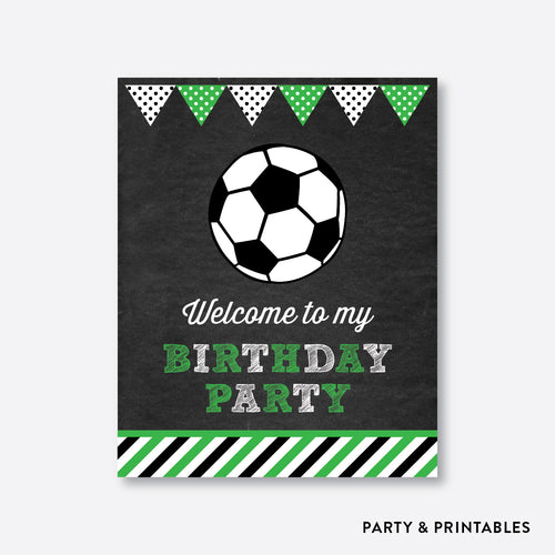 Soccer Chalkboard Welcome Sign / Non-Personalized / Instant Download (CKB.78)