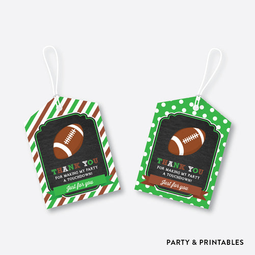 American Football Chalkboard Favor Tags / Non-Personalized / Instant Download (CKB.79)
