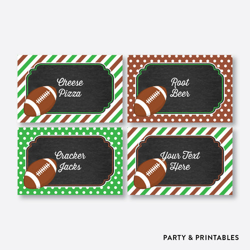American Football Chalkboard Food Labels / Editable / Instant Download (CKB.79)