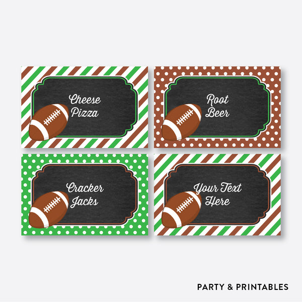 American Football Chalkboard Food Labels / Editable / Instant Download (CKB.79), party printables - Party and Printables