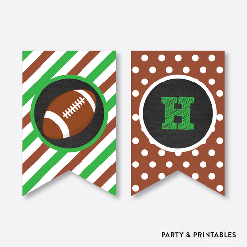 American Football Chalkboard Party Banner / Happy Birthday Banner / Non-Personalized / Instant Download (CKB.79)