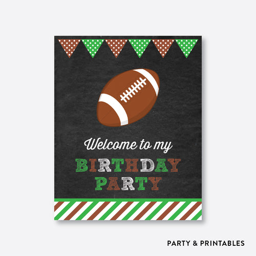 American Football Chalkboard Welcome Sign / Non-Personalized / Instant Download (CKB.79)