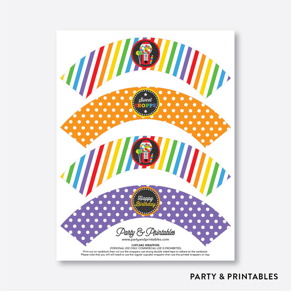 Sweet Shoppe Chalkboard Cupcake Wrappers / Non-Personalized / Instant Download (CKB.84), party printables - Party and Printables