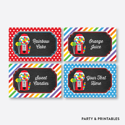 Sweet Shoppe Chalkboard Food Labels / Editable / Instant Download (CKB.84)