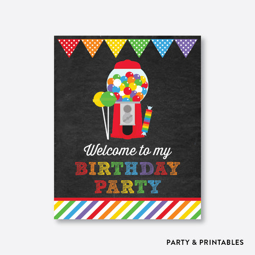 Sweet Shoppe Chalkboard Welcome Sign / Non-Personalized / Instant Download (CKB.84)