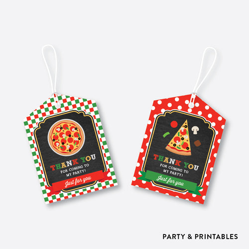 Pizza Chalkboard Favor Tags / Non-Personalized / Instant Download (CKB.86)