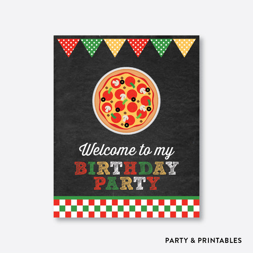 Pizza Chalkboard Welcome Sign / Non-Personalized / Instant Download (CKB.86)