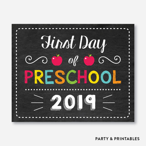 First Day of Preschool Sign / Instant Download (FDSS.01)