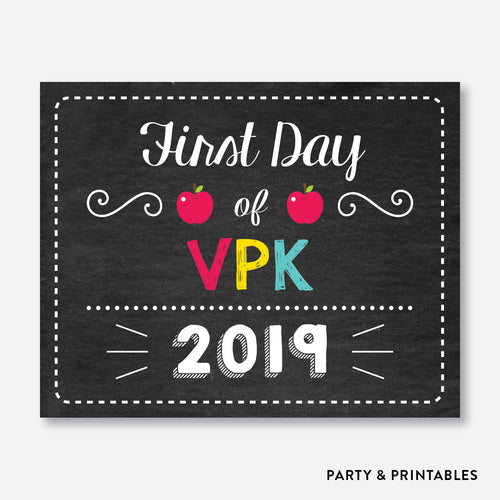First Day of VPK Sign / Instant Download (FDSS.21)