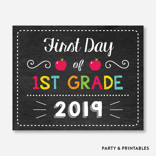 First Day of 1st Grade Sign / Instant Download (FDSS.10)