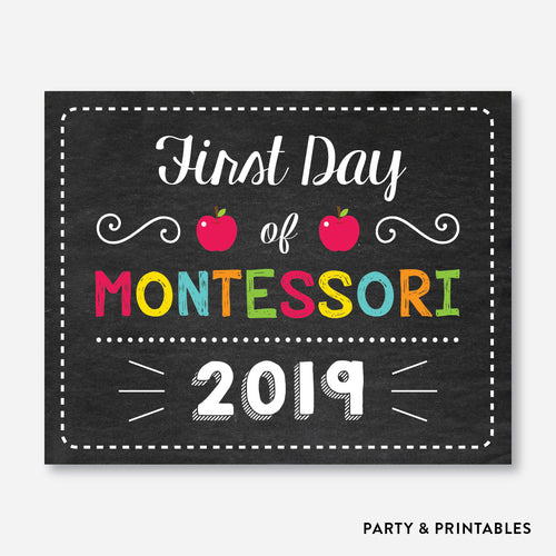 First Day of Montessori Sign / Instant Download (FDSS.22)