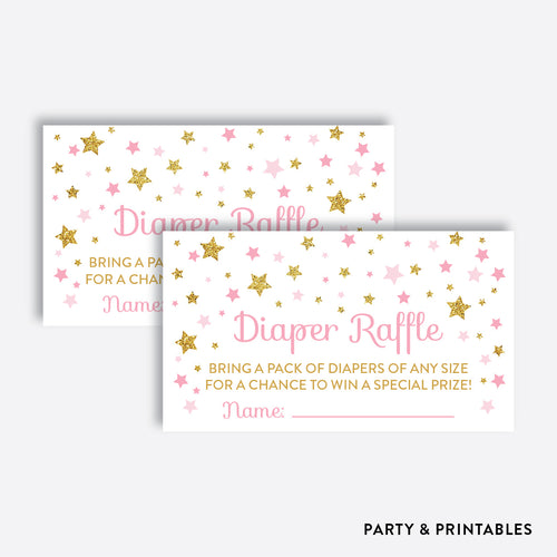 Twinkle Twinkle Little Star Diaper Raffle / Non-Personalized / Instant Download (GBS.05)
