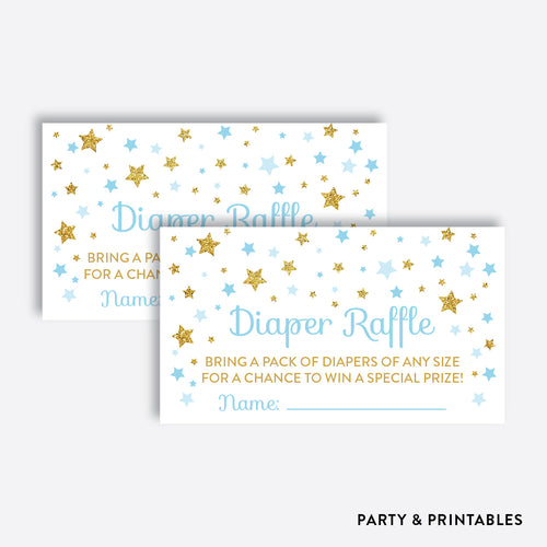 Twinkle Twinkle Little Star Diaper Raffle / Non-Personalized / Instant Download (GBS.06)