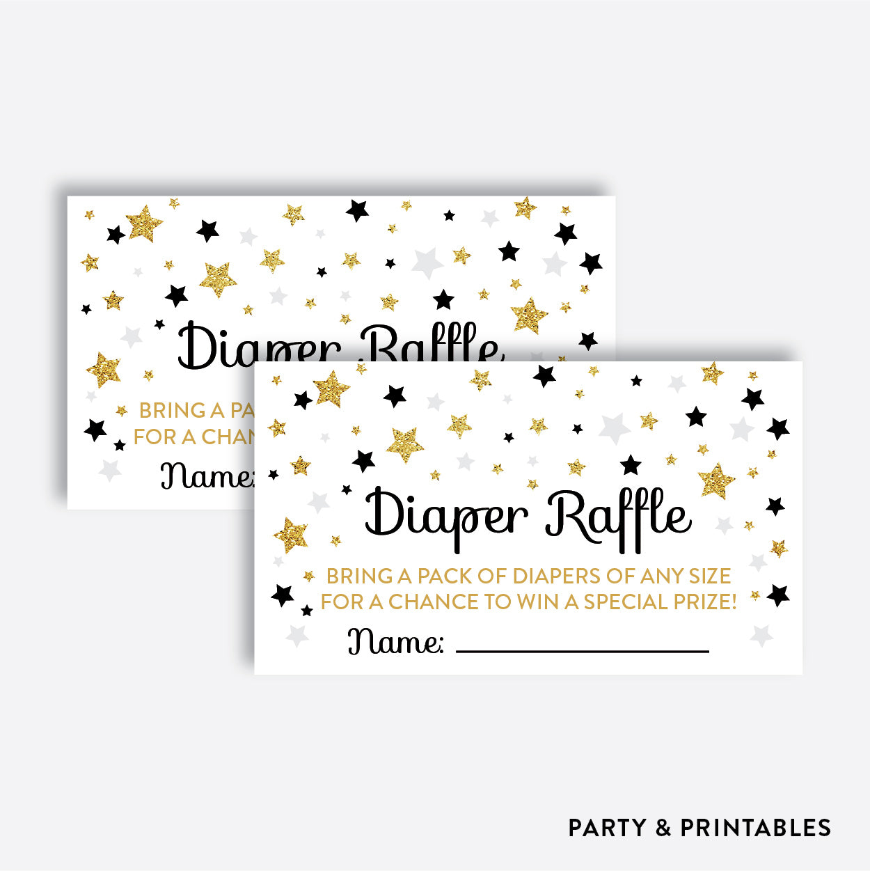 Twinkle Twinkle Little Star Diaper Raffle / Non-Personalized / Instant Download (GBS.07), party printables - Party and Printables