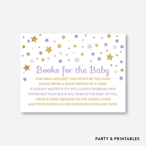 Twinkle Twinkle Little Star Books For The Baby / Non-Personalized / Instant Download (GBS.08)