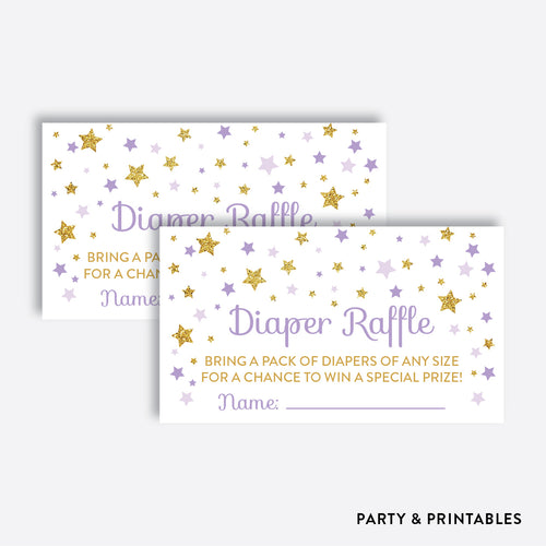 Twinkle Twinkle Little Star Diaper Raffle / Non-Personalized / Instant Download (GBS.08)