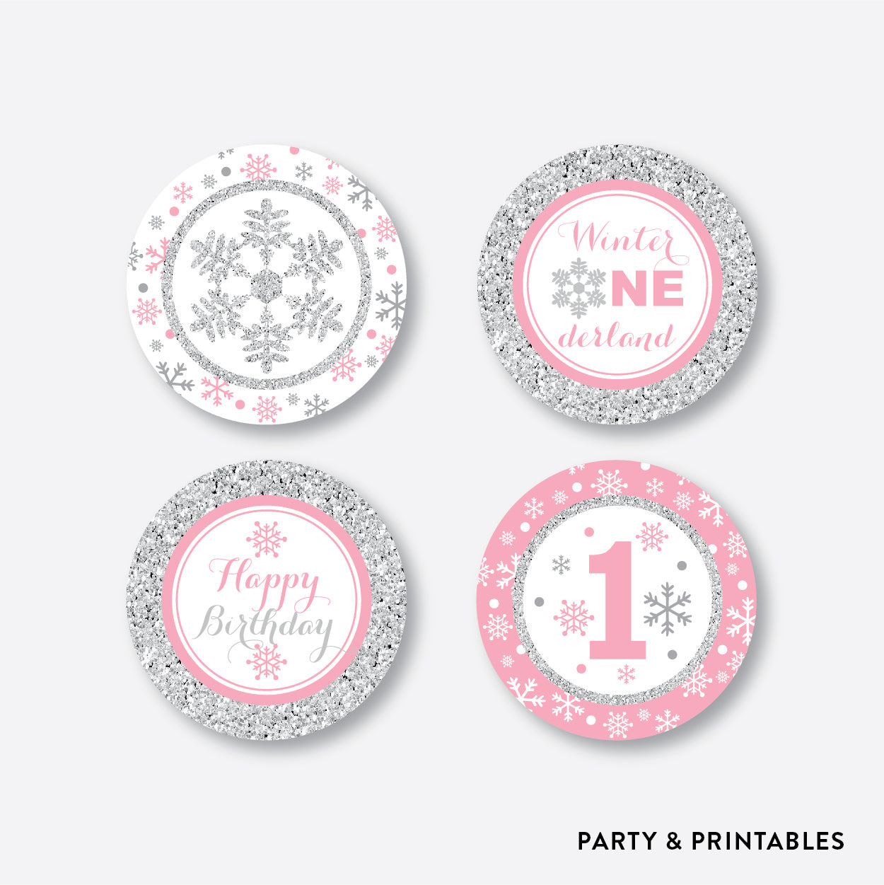 Winter Wonderland Cupcake Toppers / Non-Personalized / Instant Download (GKB.02), party printables - Party and Printables