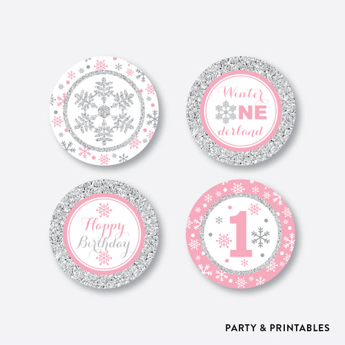 Winter Wonderland Cupcake Toppers / Non-Personalized / Instant Download (GKB.02)