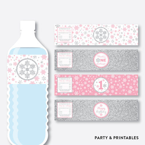 Winter Wonderland Water Bottle Labels / Non-Personalized / Instant Download (GKB.02)
