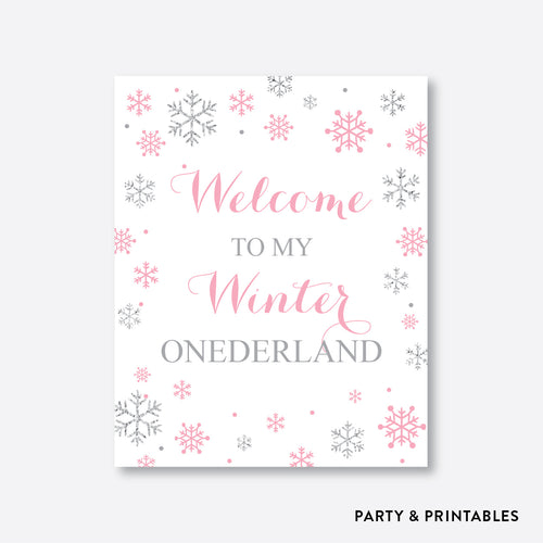 Winter Wonderland Welcome Sign / Non-Personalized / Instant Download (GKB.02)