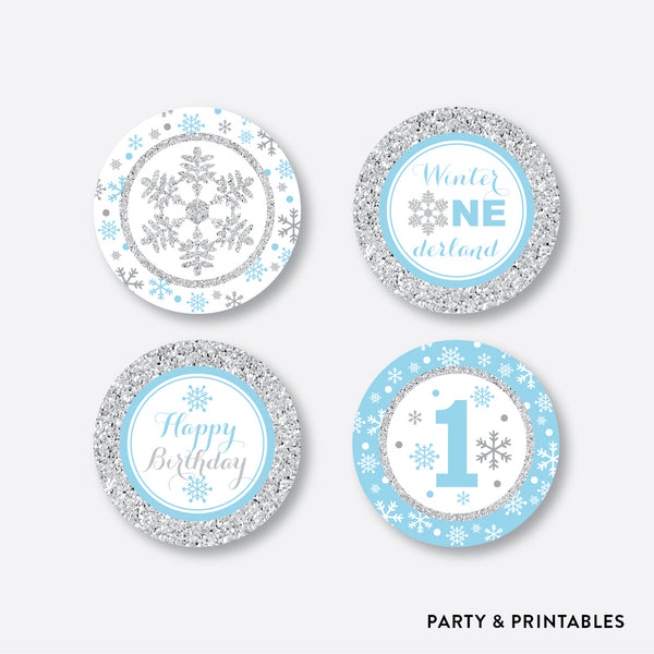 Winter Wonderland Cupcake Toppers / Non-Personalized / Instant Download (GKB.04), party printables - Party and Printables
