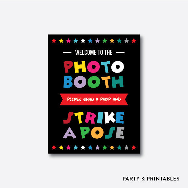 Disney Photo Booth Props + Photo Booth Sign / Instant Download (PBP.01A), photo booth props - Party and Printables