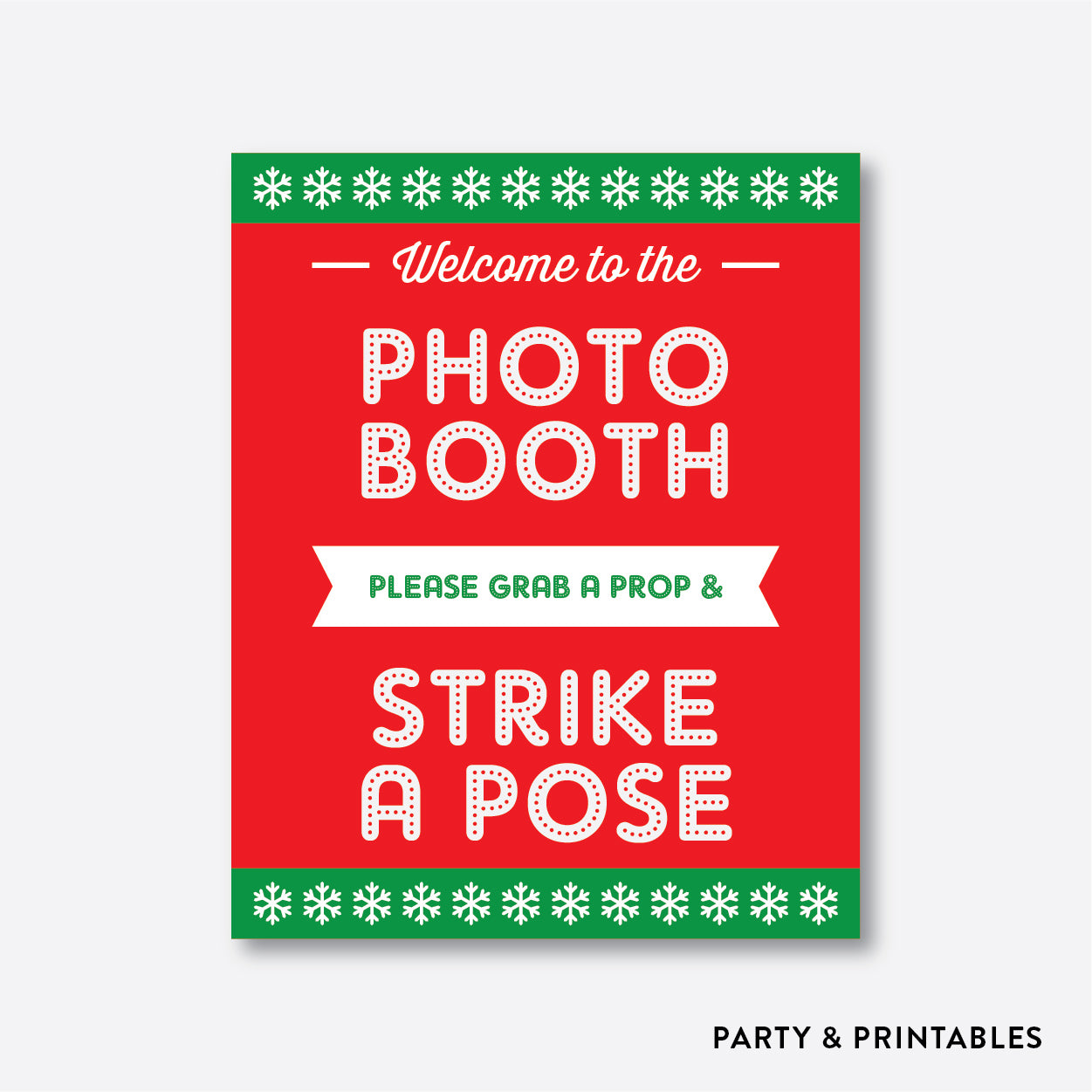 image about Free Printable Photo Booth Sign named Xmas Photograph Booth Props + Picture Booth Indication / Immediate Obtain (PBP.06)