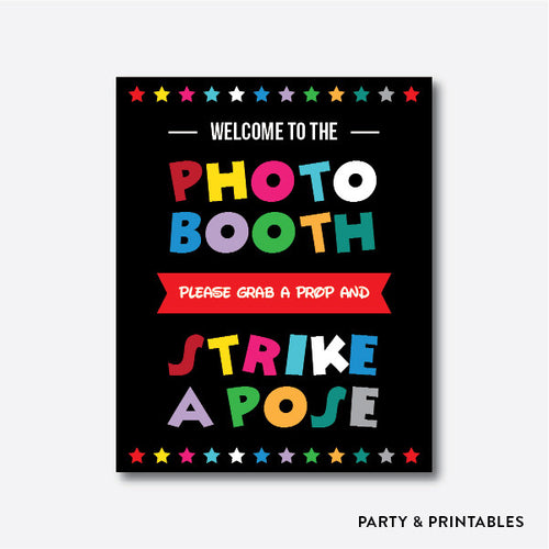 Disney Photo Booth Sign / Instant Download (PBS.01)