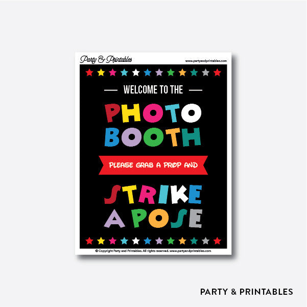Disney Photo Booth Sign / Instant Download (PBS.01), photo booth props - Party and Printables