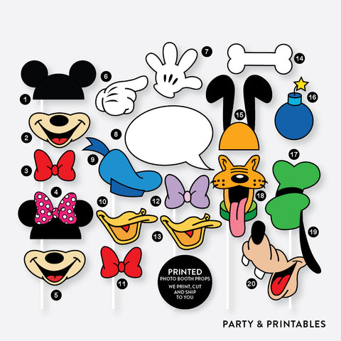 20 Pieces Disney Inspired Photo Booth Props / Party Supplies (PPBP.01)
