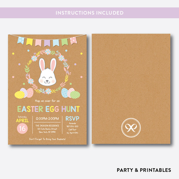 Easter Egg Hunt Holiday Invitation / Editable / Instant Download (RHI.02), invitation - Party and Printables