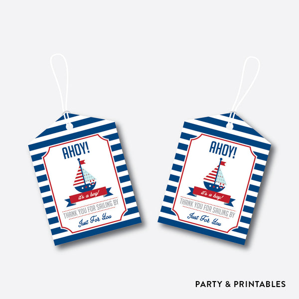 Nautical Favor Tags / Non-Personalized / Instant Download (SBS.01), party printables - Party and Printables