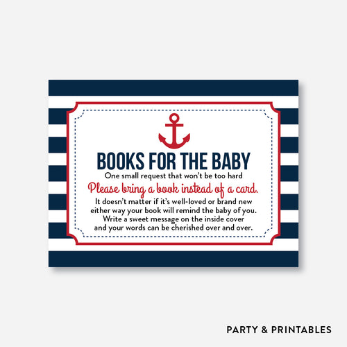 Nautical Books For The Baby / Non-Personalized / Instant Download (SBS.02)