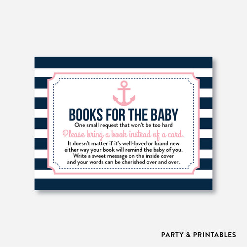 Nautical Books For The Baby / Non-Personalized / Instant Download (SBS.03)