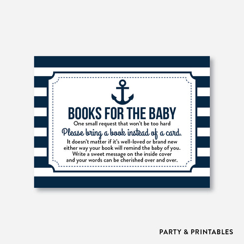 Nautical Books For The Baby / Non-Personalized / Instant Download (SBS.04)