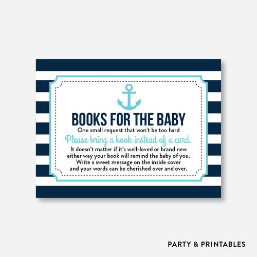 Nautical Books For The Baby / Non-Personalized / Instant Download (SBS.05)