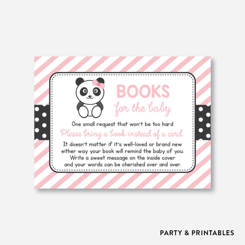 Panda Books For The Baby / Non-Personalized / Instant Download (SBS.06)