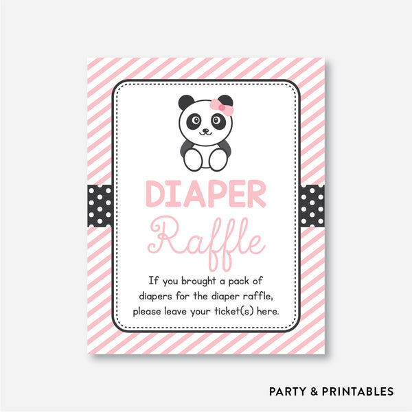 Panda Diaper Raffle / Non-Personalized / Instant Download (SBS.06)