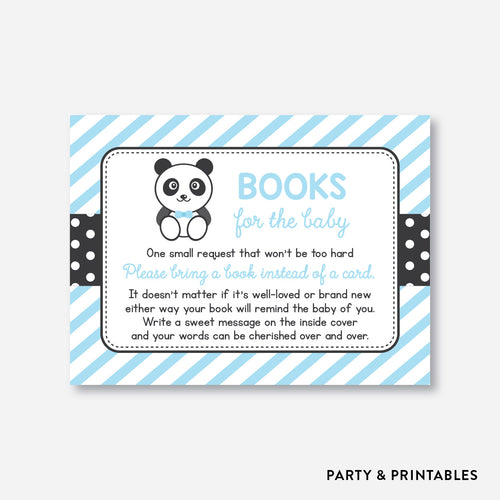 Panda Books For The Baby / Non-Personalized / Instant Download (SBS.07)